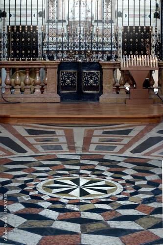 Fotografie, Obraz  christian mandala on christian church - Riva del Garda Italy