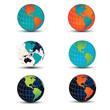 Vector globe variations