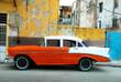 Orange American old car