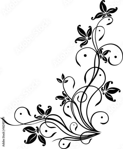 blume ranke filigran floral ornamental  kaufen sie