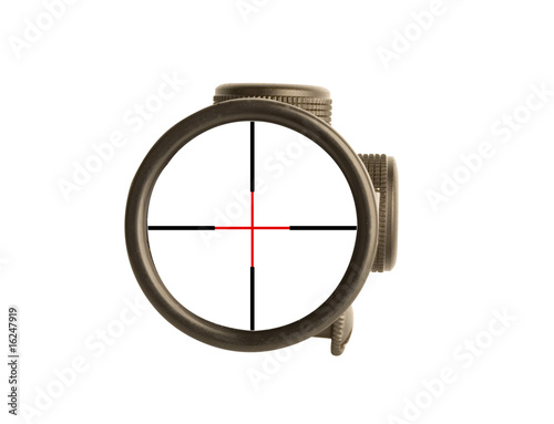 Fotografía  Image of a rifle scope sight used for aiming with a weapon