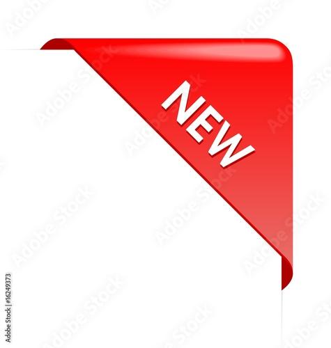 Fotografía  New red corner business ribbon