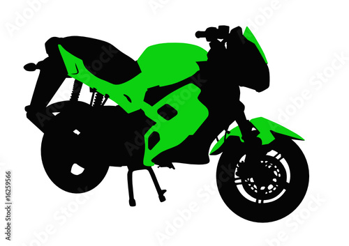Poster Motocyclette Green motorcycle