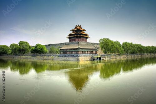Photo Stands Beijing Forbidden City in Beijing (Peking) - China