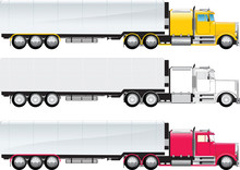 Side View Of A Big Truck Color...