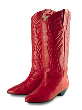Women's Red Cowboy Boots With ...