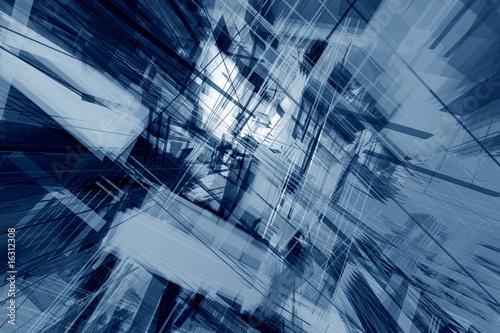 Vászonkép Glassy deconstruction