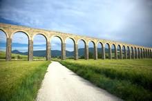 Roman Aqueduct In Pamplona
