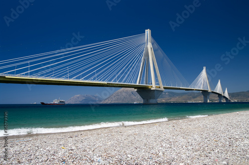 In de dag Brug cable stayed bridge, Greece