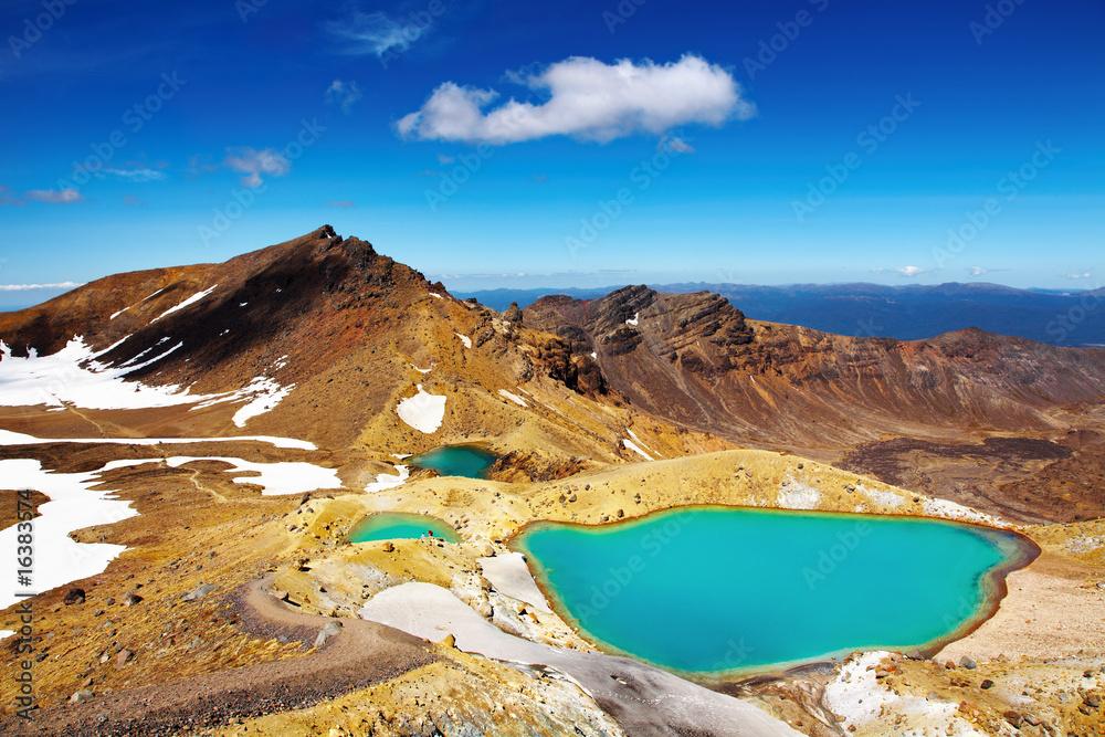 Foto  Emerald Lakes, New Zealand