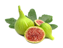 Fig Red With Green Leaves