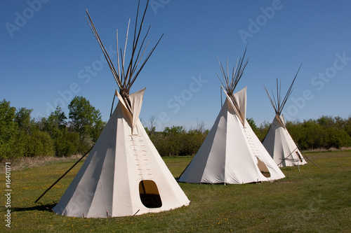 In de dag Indiërs Indian Teepees