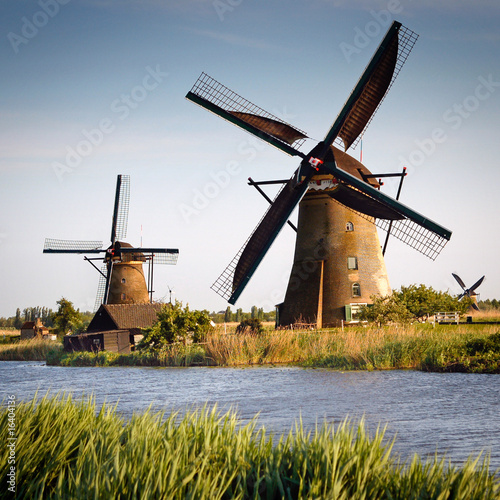 Old windmills at Netherlands