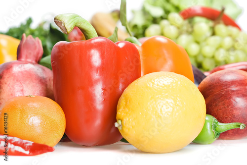 Healthy Eating, isolated on white background. © 2happy