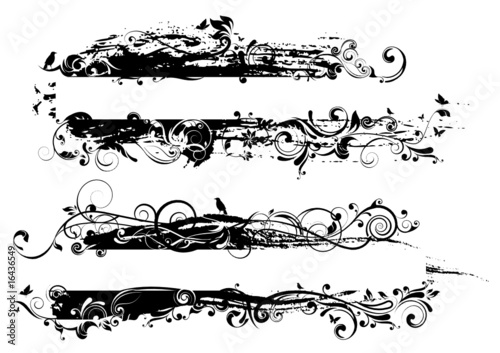 Printed kitchen splashbacks Butterflies in Grunge Black label design