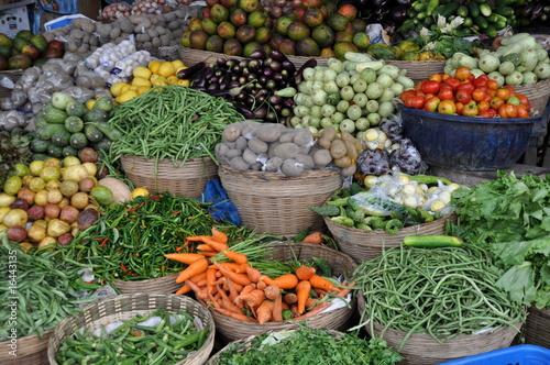 Türaufkleber Afrika Healthy food - Obst- und Gemüsestand in Afrika