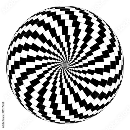 Poster Psychedelique Vector spiral optical illusion