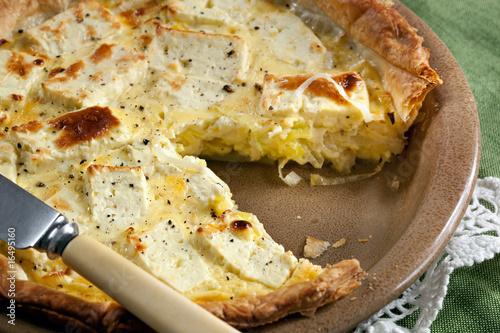 Leek and Cheese Flan