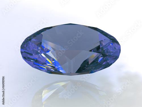 Fotografia, Obraz  Massive oval sapphire stone - 3d