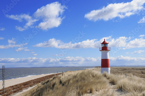 Keuken foto achterwand Noordzee leuchtturm lighthouse sylt leuchtfeuer Dünen Dänemark