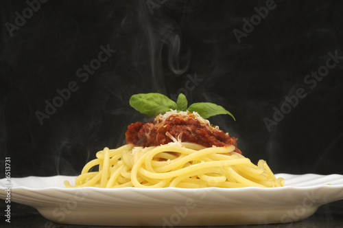 Fotografie, Obraz  Spaghetti al pomodoro e basilico - Cucina italiana