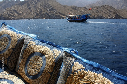 embroidered cushions and cruise in oman waters - Buy this
