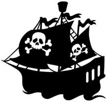 Pirate Ship Silhouette