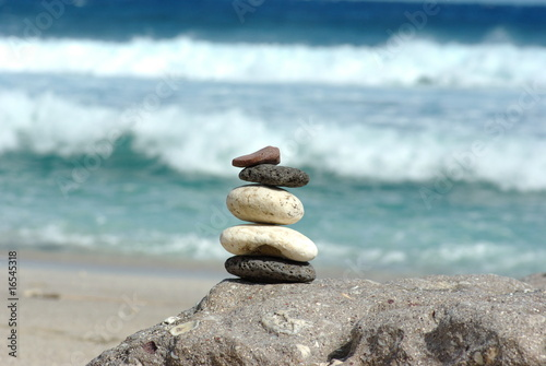 Photo sur Plexiglas Zen pierres a sable zen à la plage