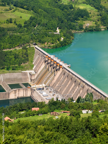 Poster Barrage hydroelectric power station