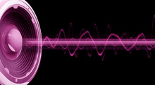Flyer Audio Spectre Rose Fond Noir