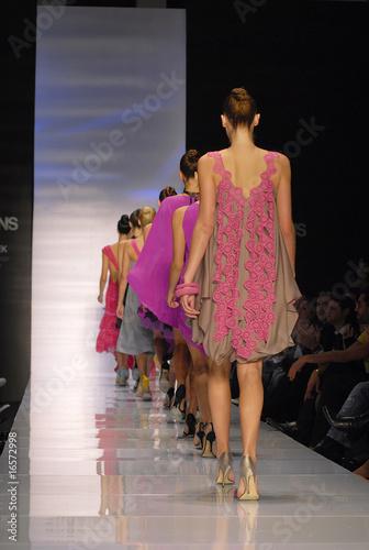 Valokuva  Models on a catwalk