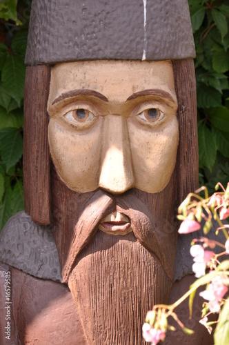 Autocollant pour porte Magasin de musique sculpture of old bee-keeper