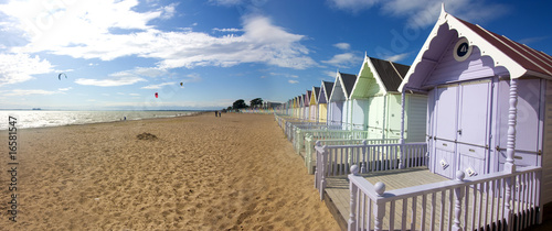 Photo  mersea beach huts