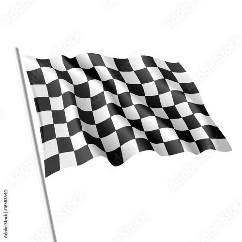 Stickers pour porte F1 Checkered flag. Vector.