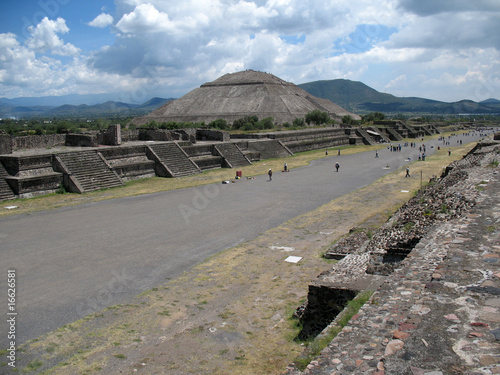 Tuinposter Mexico Teotihuacan