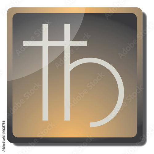 Photo Boton anglesita (simbolo de alquimia)