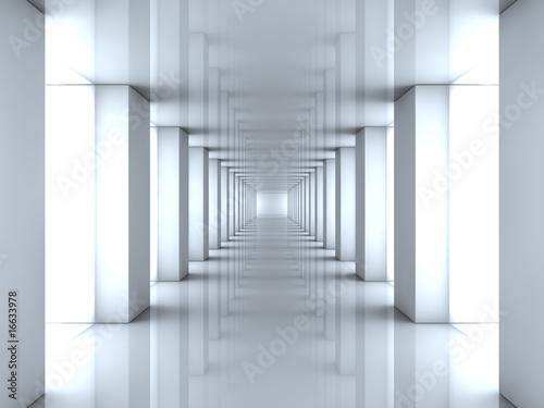 Fototapety przestrzenne   lustrzany-tunel-swiatla-3d