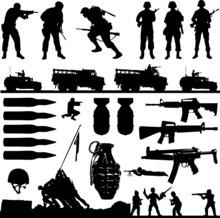 War Collage (vector)