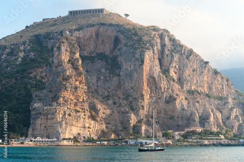 Valokuva  View of Terracina port, Italy in the morning