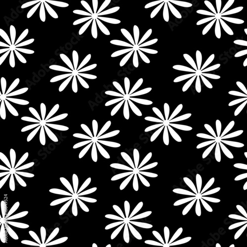 Staande foto Bloemen zwart wit Flower cover