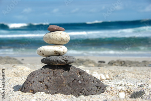 Photo sur Plexiglas Zen pierres a sable cailloux sur une plage