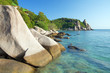 rock and tropical sea