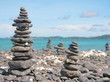 beach and Piles of stones
