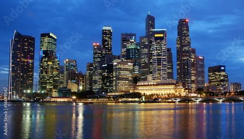 Tuinposter China Singapur bei Nacht