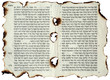 canvas print picture - Incombustible holy text