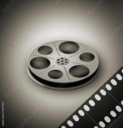 Deurstickers Retro Film reel