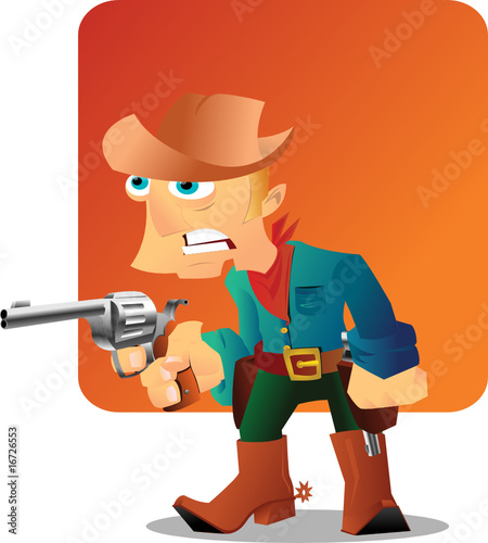 Aluminium Prints Wild West Cowboy