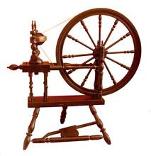 Slightly Chipped, Elderly Spinning Wheel, Still In Regular Use