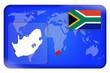 canvas print picture - 3D-Button - Südafrika
