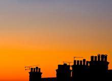 Chimneys At Sun Down